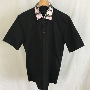 Givenchy button down shirt with floral collar